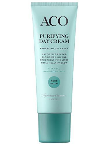 ACO Purifying Day Cream - Gel-Creme für Mischhaut - Pure Glow - leichte Creme mit mattierendem...
