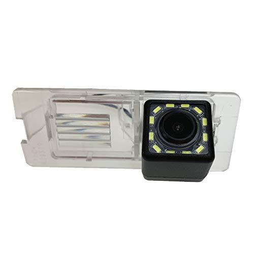 HD Rückfahrkamera wasserdicht Nachtsicht Auto Rückansicht Kamera Einparkhilfe Rückfahrsystem, Kennzeichenleuchte für Renault Megane 2 II 3 III Espace 4 Clio 3 4 Lutecia Nissan Terrano Dacia Lodgy