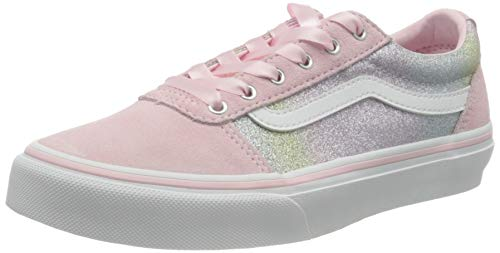 Vans Ward Suede/Canvas Sneaker, Regenbogen Glitter Blushing, 38 EU
