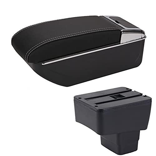 AONY Reposabrazos de coche para Mazda CX-3 Retrofit para Mazda 2 Skyactiv versión Cx3 CX-3 caja de almacenamiento de reposabrazos de coche con consola central USB (color D3 negro y blanco sin USB)