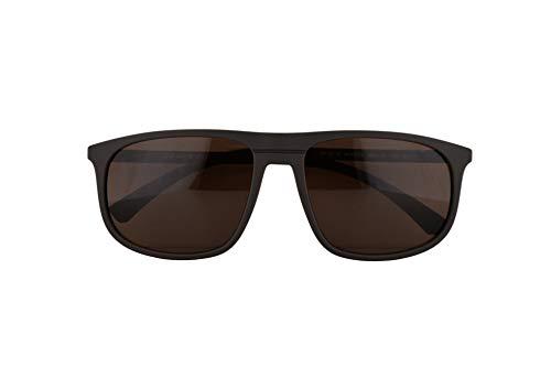 [category] Emporio Armani EA4118 Sunglasses Mud Rubber w/Brown Lens 59mm