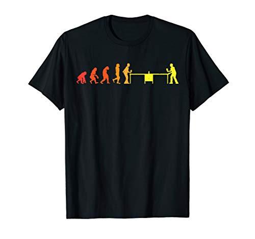 Evolution Tischtennis   Ping Pong   Tischtennisspieler cool T-Shirt