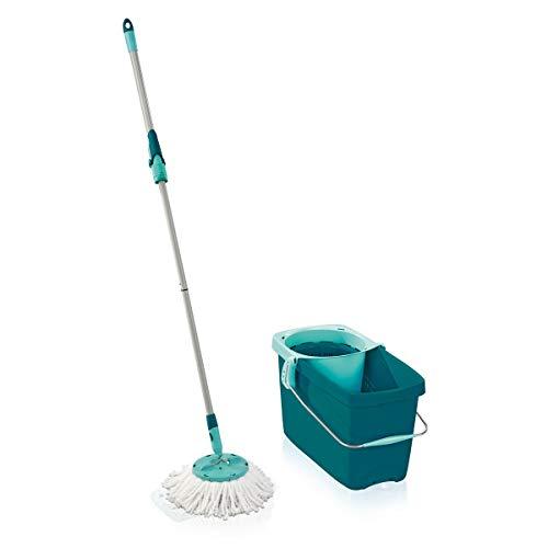 Leifheit Set Clean Twist Mop Serpillière, seau et balai-essoreur simples à utiliser, balais serpillère avec mécanisme d'essorage intégré