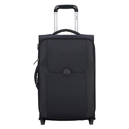 Delsey - mercure - valigia trolley da cabina universale 2 ruote morbido slim 55 cm nero cod. 3247724