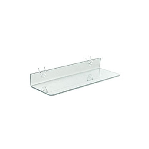 Clear Acrylic Shelf 16 W x 4 for D Inches Special price Pegboard shop Slatwall and