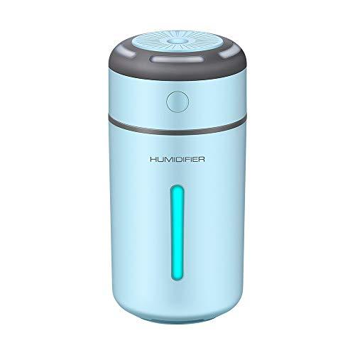 YLH Humidificador De Luz Colorido USB Mini Nebulizador Coche Humidificador Pequeño Hogar (Color : Blue)