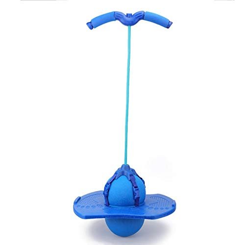 Tabla de Rebote de Equilibrio de Bola de Pogo con Mango de Cuerda de tracción Bola de Salto Bola de Equilibrio de Salto Juguete para niños(Azul)