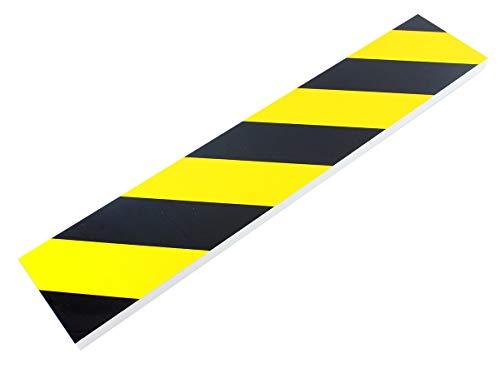 HUKITECH Autodeurbescherming (zelfklevend) deurrandenbeschermer autodeur bescherming autodeuren bescherming autodeuren randbescherming lakbescherming folie voor garage - 50 x 10 x 1,5 cm (geel/zwart)