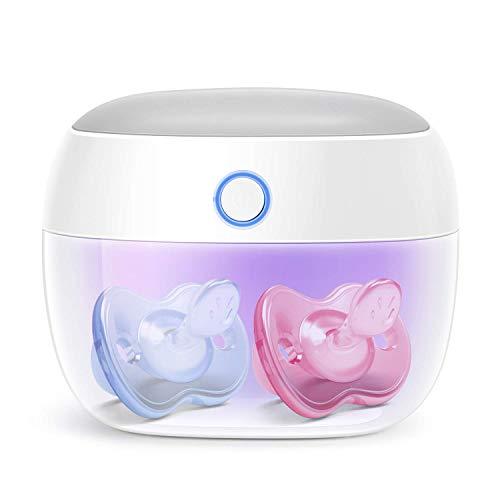 Papablic Portable UV Light Sterilizer, Mini UV-C Sanitizer Box for Pacifier and More, 99.99% Sterilization in 59 Seconds, USB Rechargeable