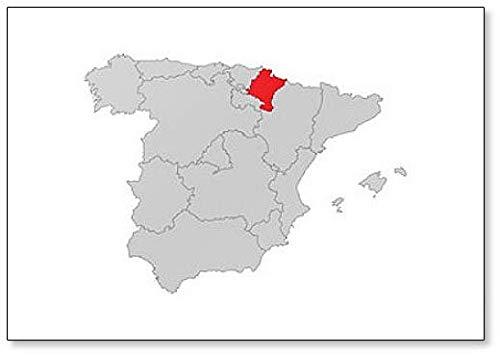 Imán para nevera con diseño de navarra de Spanien