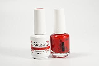 Gelixir Duo matching gel and nail polish, Made in USA. (043-Candy Apple Red)