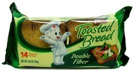 Bimbo Pan Tostado Doble Fibra - Toasted Bread with Wheat and Oat Fiber 8.82 Oz [Pack of 3]