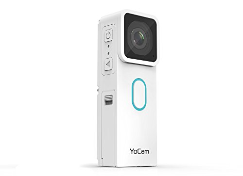 Mofily Yocam - Lifestyle/Action Camcorder - 2.7K video, IP68 rated Dust/ Waterproof (10 metres) image/ video stabilisation built in and P2P (IP Camera) White