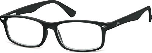 Montana Eyewear Sunoptic MR83 Lesebrille in schwarz- Stärke +2.00 inklusive Soft Etui