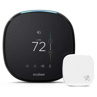 Ecobee4 Pro Smart WiFi Thermostat with Remote Sensor EB-STATE4-01 and Alexa