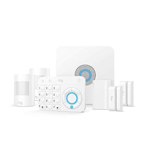 Ring Kit de inicio de alarma de 7 piezas con 2 sensores de contacto y 2 sensores de movimiento