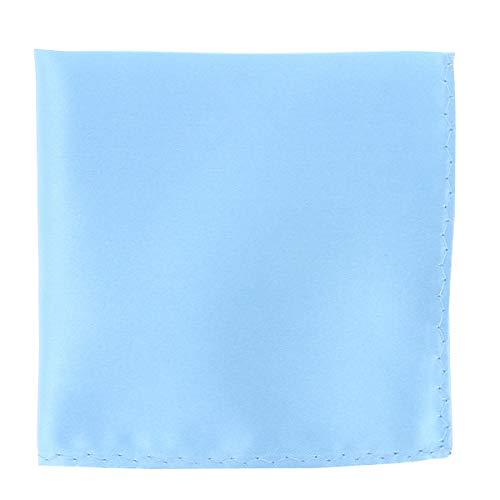 Pochette Costume Bleu Ciel - Mouchoir de Poche Homme Bleu Ciel - Accessoire Carré Poche de Veste - Mariage, Cérémonie