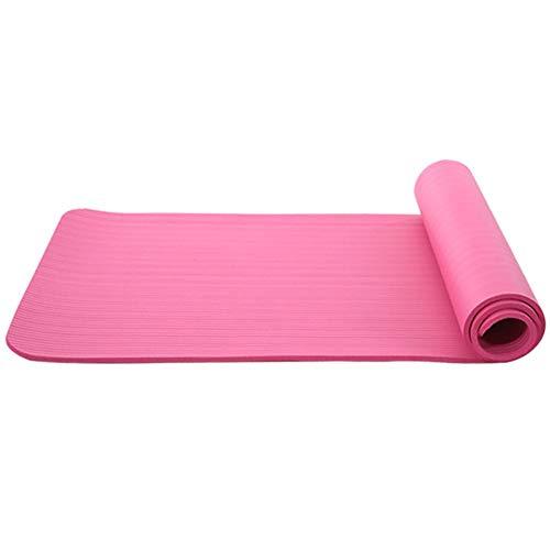 ADAGG Fhogan - Esterilla antideslizante para yoga (183 cm), color rosa