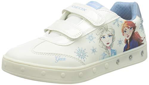 Geox J Skylin Girl E, Scarpe da Ginnastica, Bianco Cielo, 27 EU
