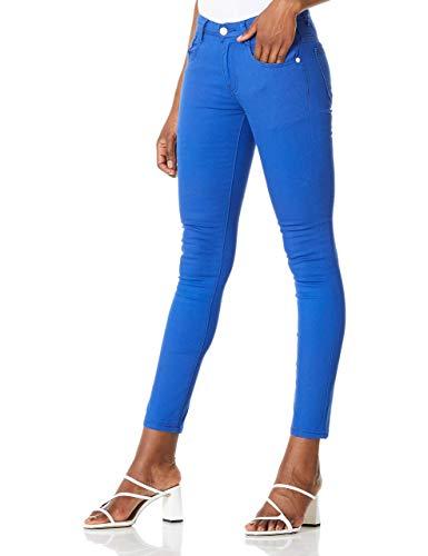 Demon&Hunter COLOR Series Junior's Rise Demi Curve Skinny Jeans DH8022U,32/14 Short,Blue
