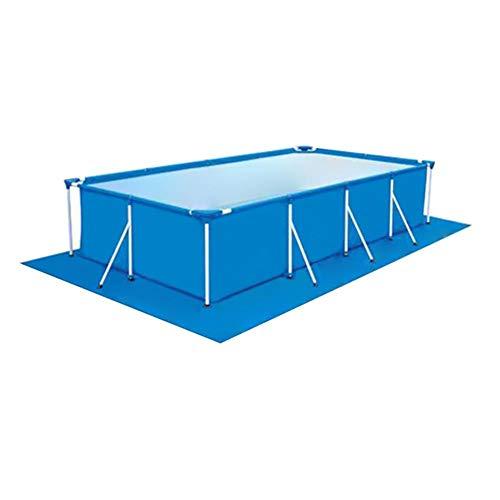 QUUY Pool-Grundtuch Bodenmatte Bodenplane Rechteckige Schwimmbecken Matte Faltbarer Polyester Teppichboden Bodenfolien für Verschiedene Pools 338 x 239 cm (ohne Pool)