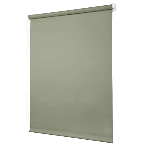 Ventanara Rollo ohne Bohren tageslicht Seitenzugrollo Klemmfix Fensterrollo (90 x 150 cm, Jadegrün)