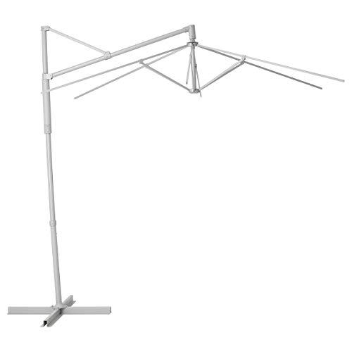 OXNÖ - Marco para sombrilla (265 x 300 cm), color gris
