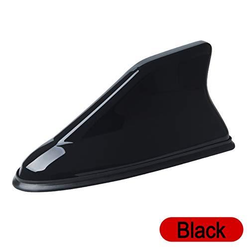 Hyzb Antena de Coche tiburón FM/Am señal Antenas engomada del Coche Accesorios for BMW E30 E34 E36 E39 E46 E60 E70 E87 E90 E91 E92 (Color : Black)