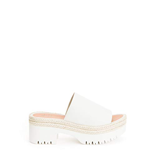 Aquatalia Women's Whitney Weatherproof Espadrille Platform Sandals Off White 11