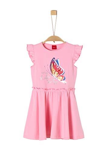 s.Oliver Mädchen Jerseykleid mit Pailletten pink 128.REG
