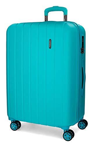 Movom Wood Maleta mediana Azul 44,50x65x27,5 cms Rígida ABS Cierre TSA 68L...
