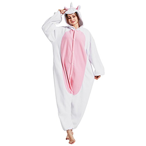 Jolly Costumes Pajamas Onesie,Adult Unicorn Animal Onesie Sleepwear Pajamas Cosplay Costume Loungewear