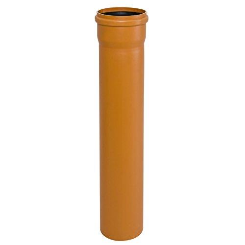 MKK - 19548-003 - KG-Rohr DN 110-200 Länge 0,5 m PVC externes Abwassersystem Rohre Abflussrohr Kanalgrundrohr orange DN 200