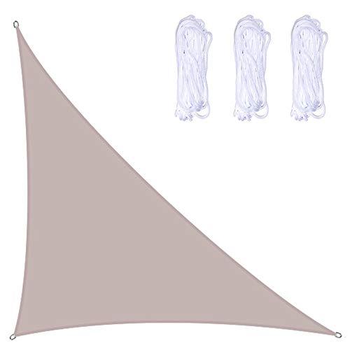 Toldos Exterior Triangle Sun Shade Sail Beach Canopy Cubierta UV Bloqueo, Patio Shade Spade Impermeable, Esquinas Reforzadas Y Bordes, Muchos Colores Están Disponib(Size:5×5×7.1m/16×16×23ft,Color:A01)