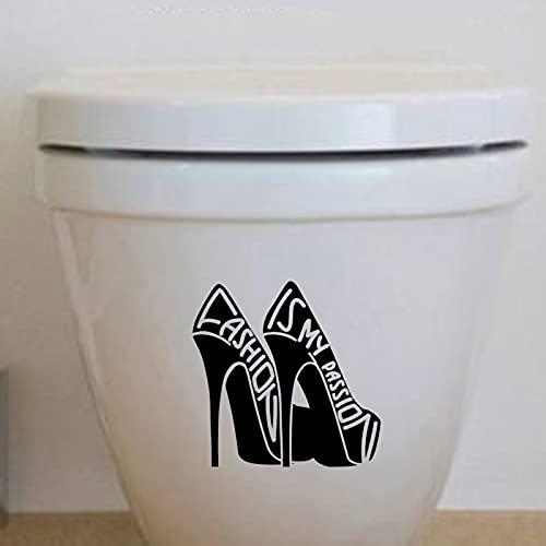 Zapatos De Moda Mujer Calcomanías De Vinilo Para Pared Pegatinas De Baño Decoración Del Hogar