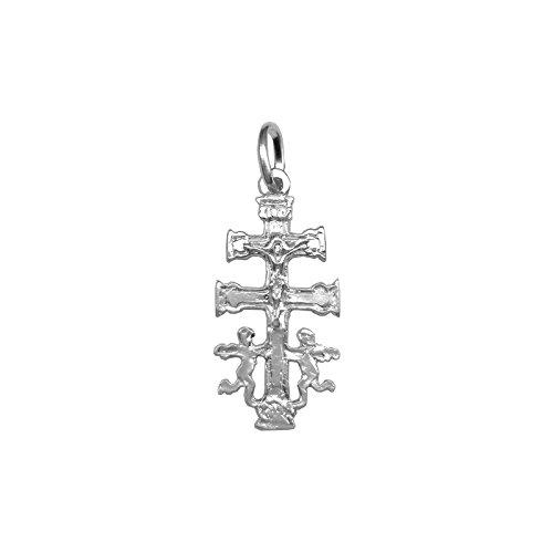 Cruz de Caravaca en plata de primera ley 925m - Angeles – Bendecidas y fabricadas en Caravaca - Diferentes tamaños (2.2)