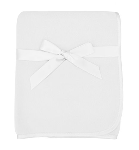 American Baby Company Fleece Blanket, White, 30 x 30, for...
