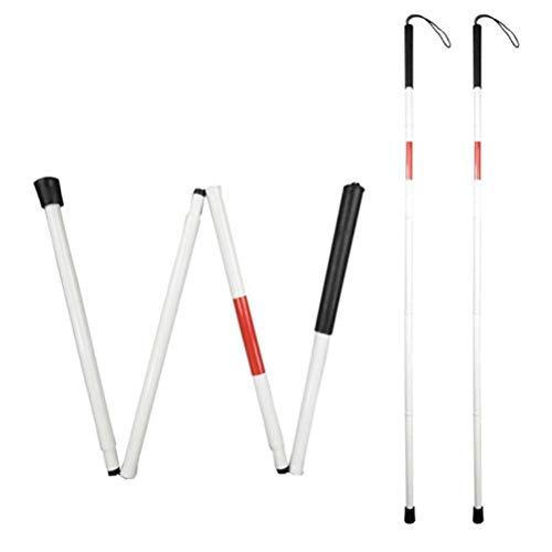 SKYEI G, Polos, Reflectante, Rojo Plegable, bastón, caña, caña, Plegable, caña, para con discapacidades y Personas ciegas de la visión 1 PC