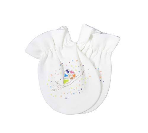 For Babies - Bio-Baumwolle Baby Kratzhandschuhe/Kratzfäustlinge/Anti-Scratch Fäustlinge für Jungen und Mädchen (GOTS Zertifiziert) - 100% organic cotton - Made in EU (Schnecke)