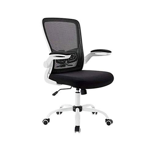 ZOUSHUAIDEDIAN Silla de oficina, silla de juego, silla ergonómica de escritorio MEDIO Malla de malla Silla de computadora con soporte lumbar Flip Up Armrest Ejecutive Rolling Showing Task Showing para
