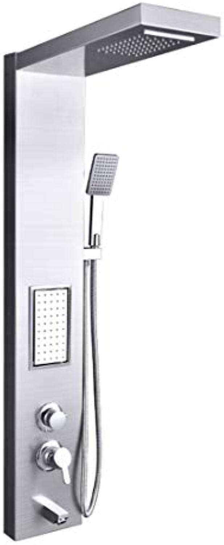 SXMXN Dusche Panel Spa Dusche Turm Massage Krper Jets Wasserfall Regen Dusche Edelstahl Dusche System,Chrome