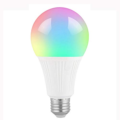 WIFI Smart Light Bulb LED RGBW Bayonet Ball Lamp E27,Colour Dimmable Works With ALexa,Google Home & IFFTTT No Hub Required,Remote Control Multi-Color By Smartphone