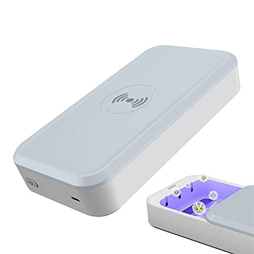 Esterilizador UV AGLINT Esterilizador Caja con Cargador Inalámbrico...