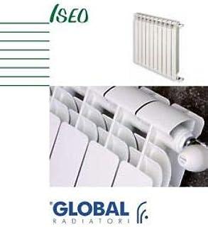 Radiador GLOBAL ISEO int. 600 blanco de 10 elementos termosifones de aluminio