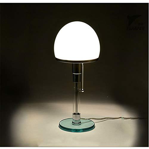 Schreibtischlampe Glas Led Tischleuchte Moderne Wagenfeld Bauhau Tischlampen Schreibtischleuchten Schlafzimmer Studie Nachttischlampen Glas Led Lampen Leuchten