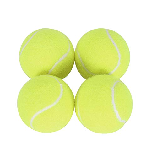 Queiting 4 Pcs Tennis Balls Durable Tennis Practice Balls Tennis Ball Replacement Dog Toy Balls Tennis Beginner Training Ball For Adults Children Exercise Pets Training