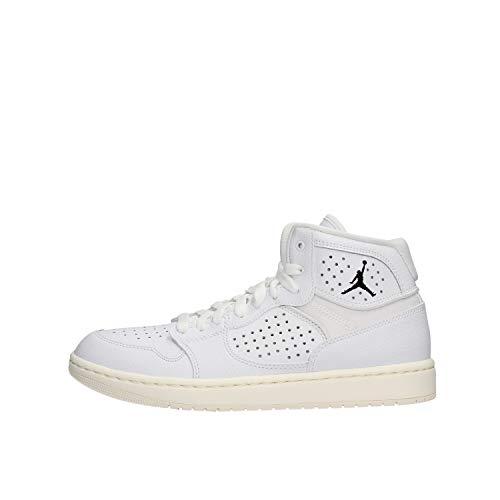Nike Jordan Access, Zapatillas Altas Hombre, Multicolor (White/White/Pale Ivory/Metallic Gold 100), 46 EU