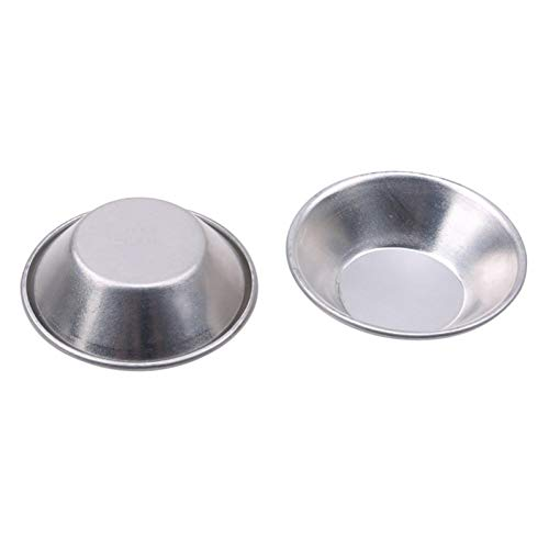 N/A 5 STÜCKE/Packung Runde Aluminiumlegierung Eierkuchen Form wiederverwendbar 7 cm Durchmesser Für DIY Cupcake Reiskuchen Törtchen Kleine Backwerkzeuge