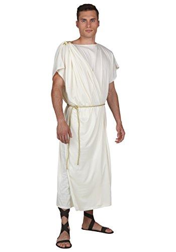 Toga - Disfraz de Toga romano para hombre y adulto - blanco - X-Small