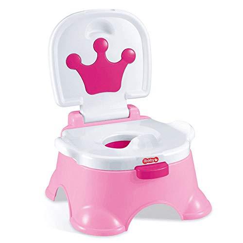ZGYQGOO 3-in-1 Kinder Toilettentrainer Babytopf Toilettensitz Kinder Toilettensitz Lerntopf (rot und weiß)